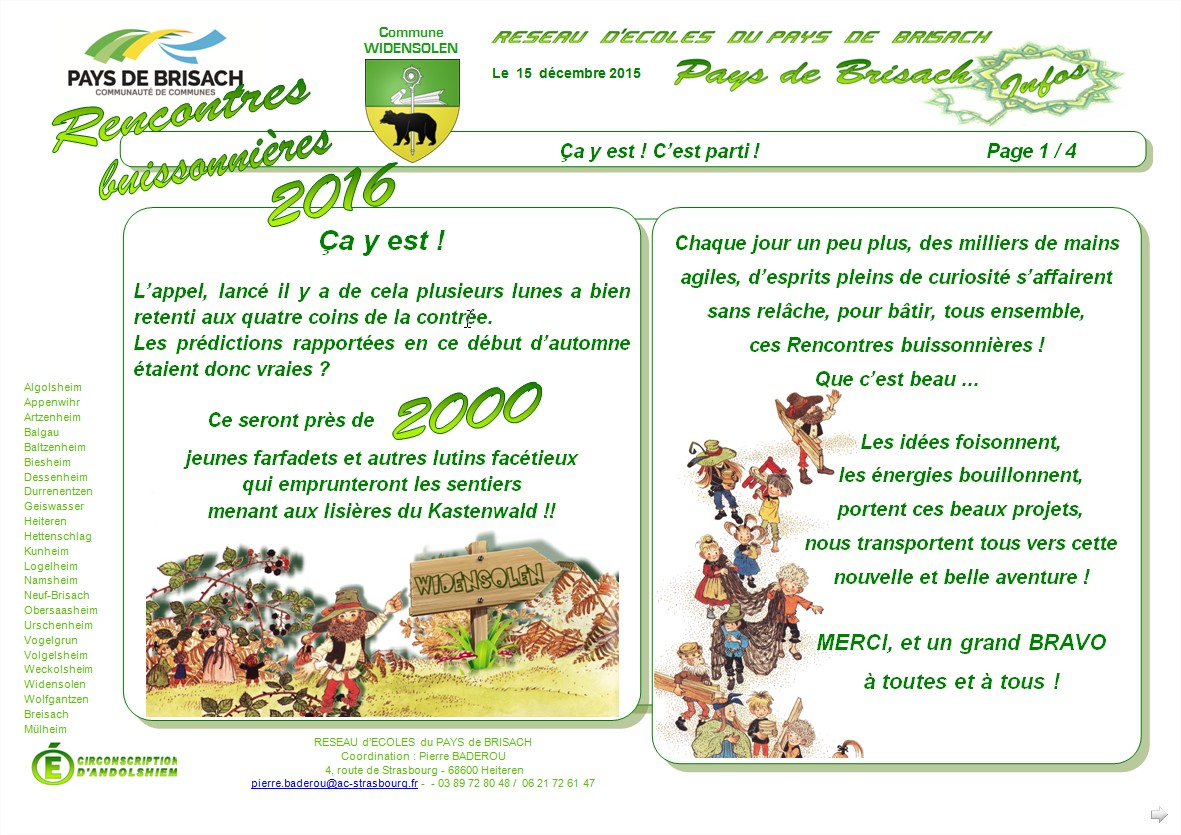 Rencontres buissonnieres 2018