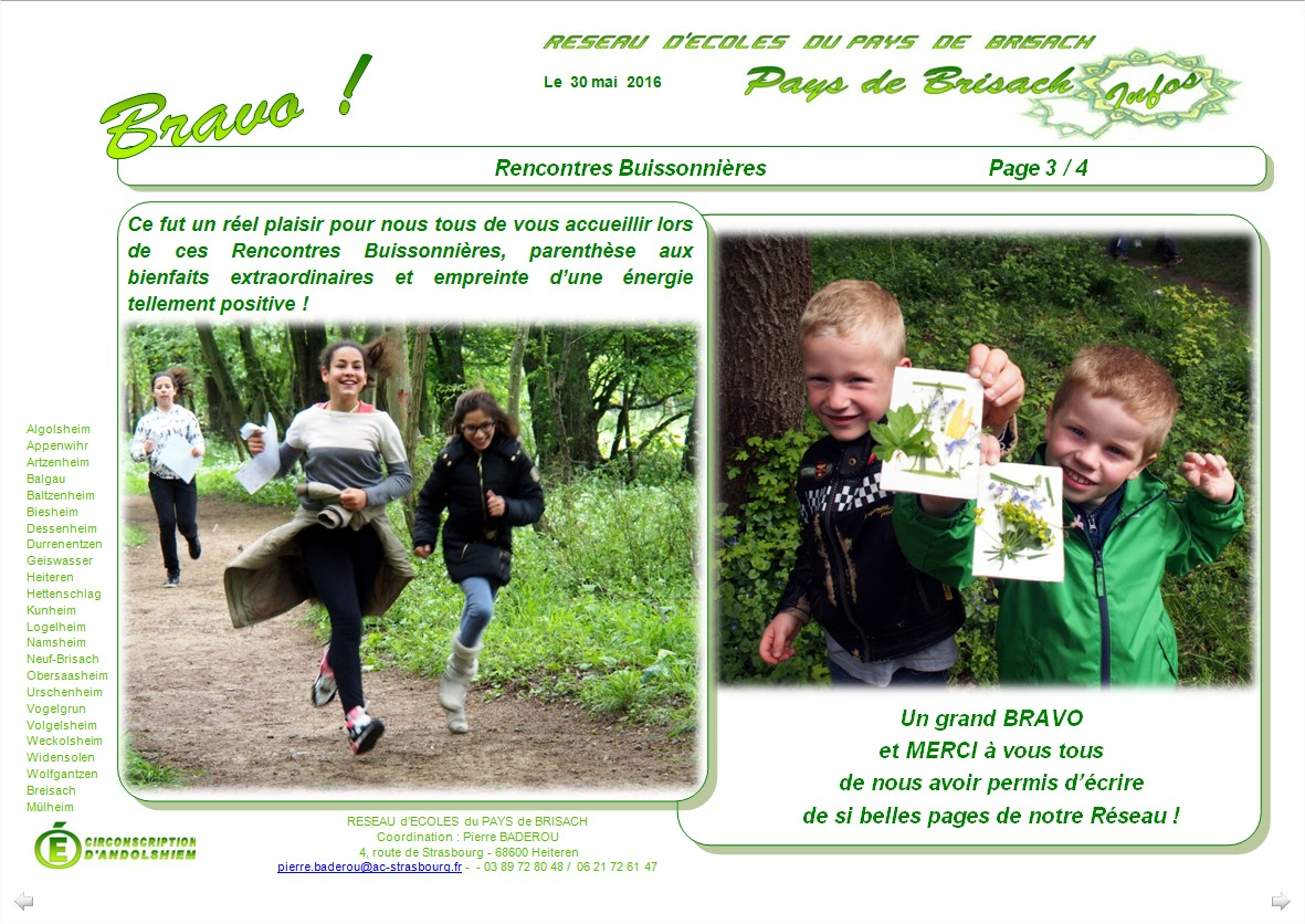 Rencontres buissonnieres 2016